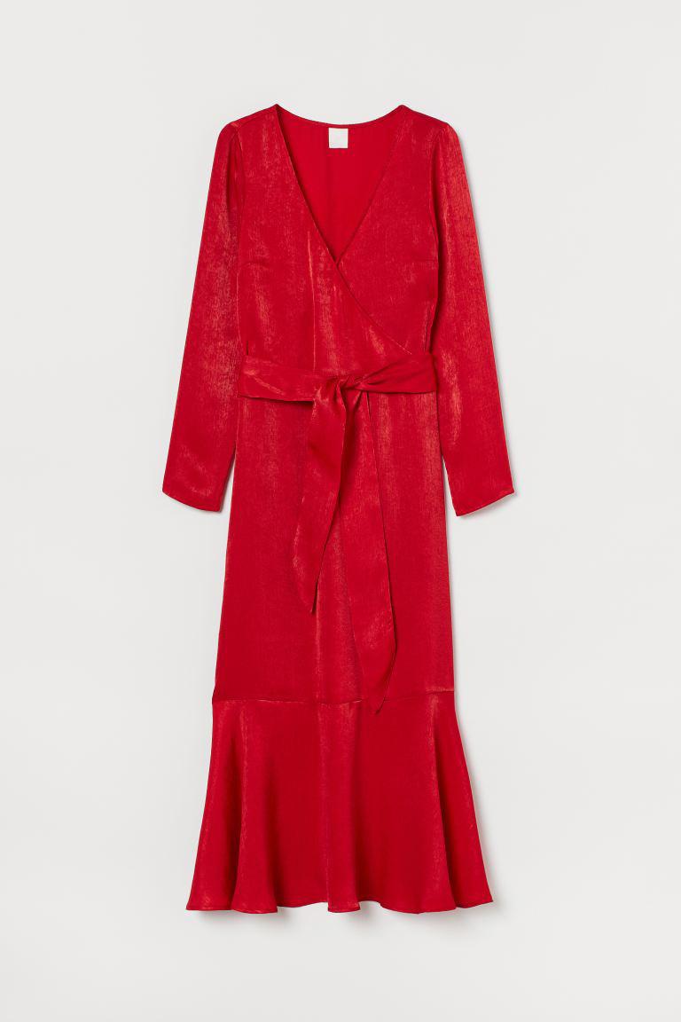 Vestido rojo de H&M.