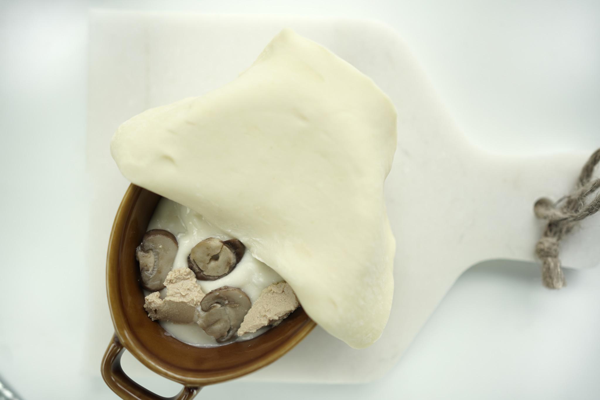 Pastel de champiñón con hojaldre