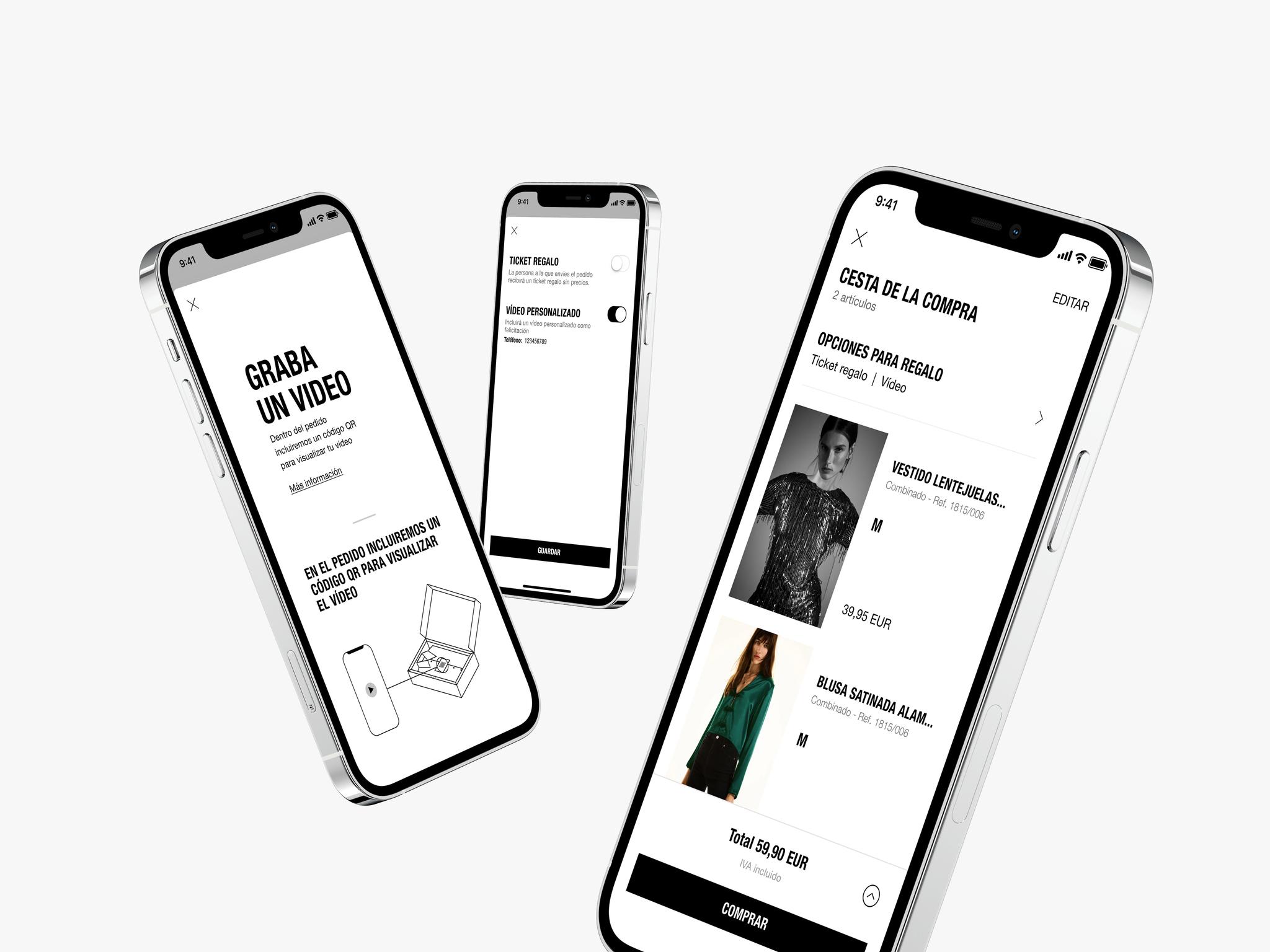 Manda un vídeo con tus regalos desde la app de Zara.