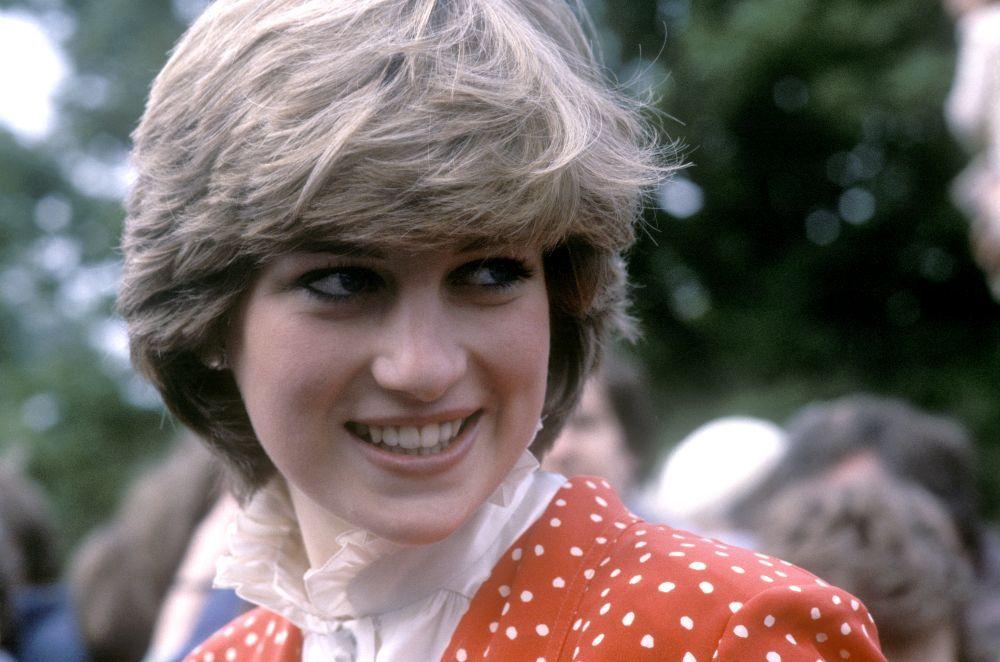 Diana de Gales con su icónico corte de pelo bob chop con el que...