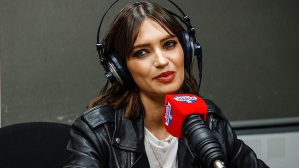 Sara Carbonero en los estudios de Radio Marca.