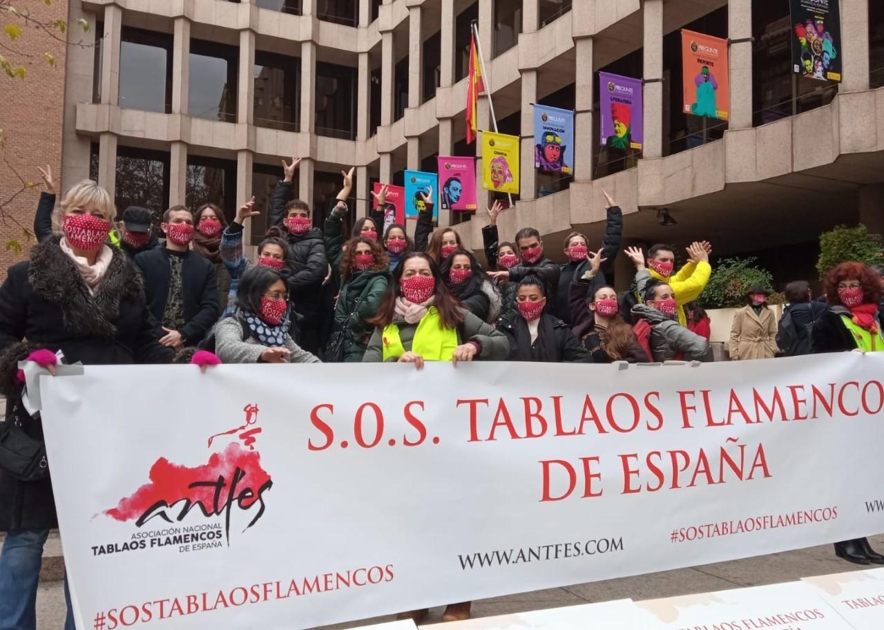 Concentración de la Asociación Nacional de Tablaos Flamencos de...