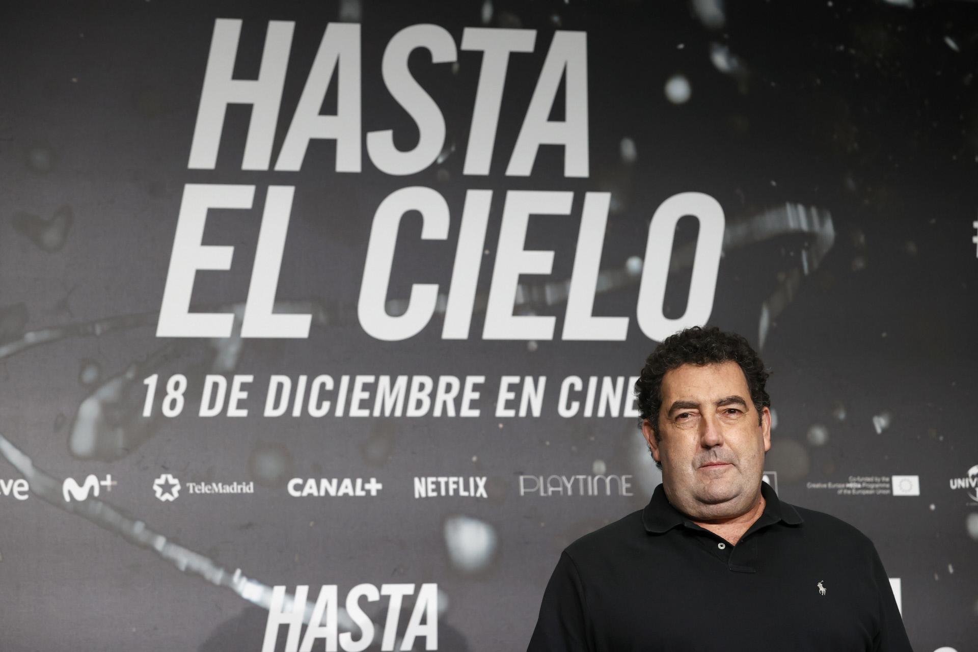 """Daniel Calparsoro en el estreno de la película """"Hasta el cielo"""" en Madrid."""