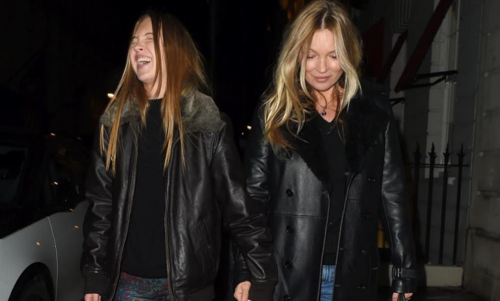 Kate Moss con su hija.