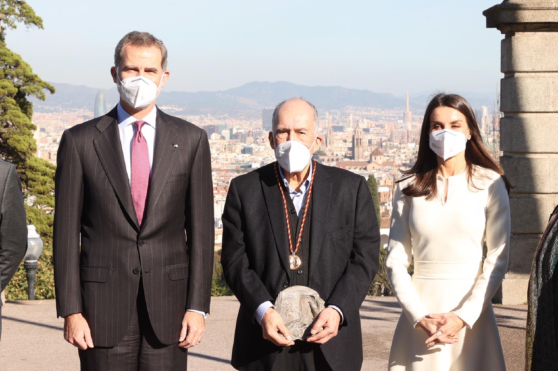 Los Reyes en la entrega del Premio Cervantes.