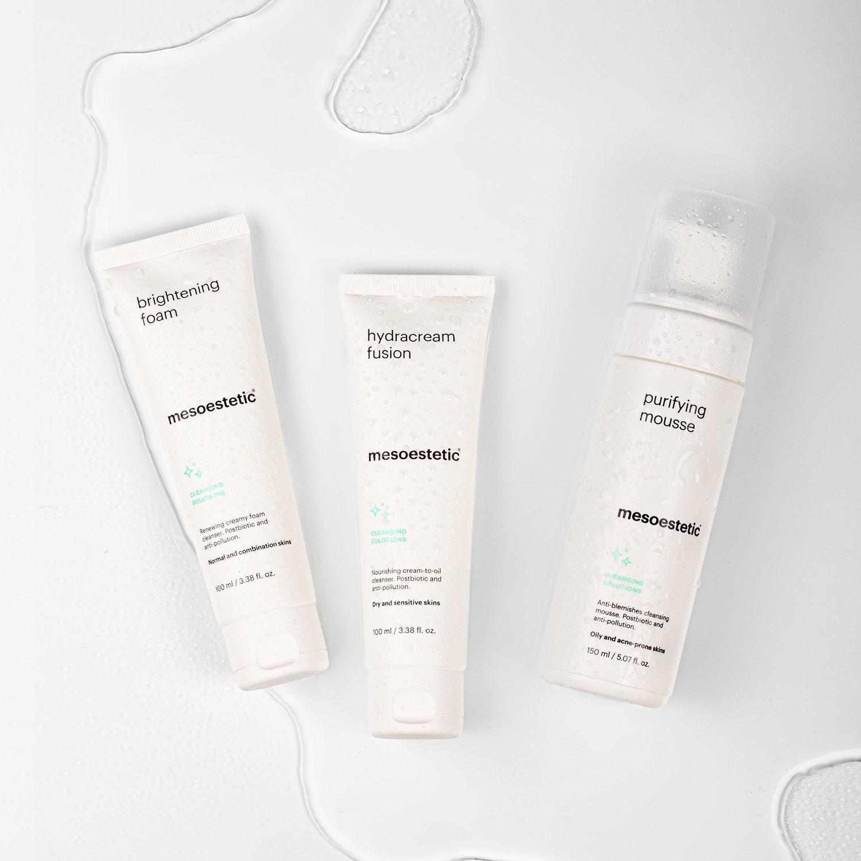 La nueva gama de productos de higiene facial de mesoestetic ofrece...
