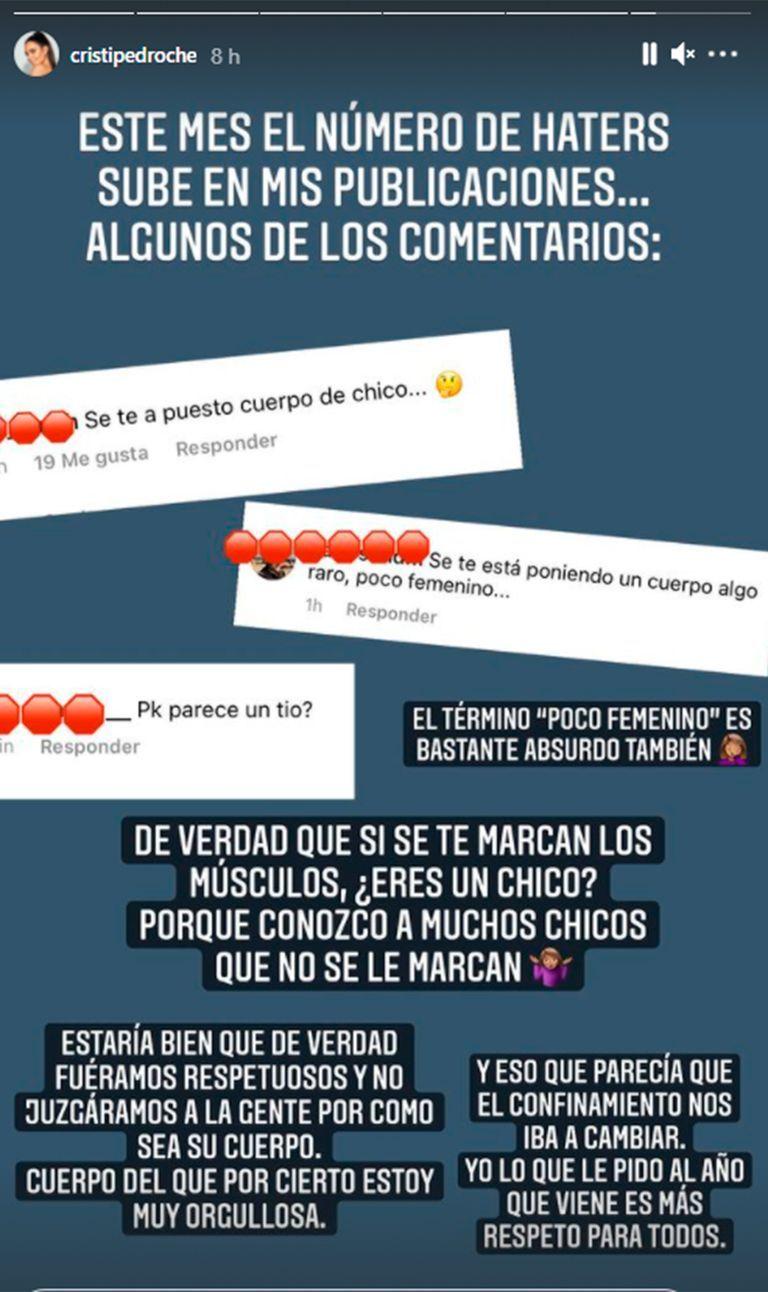 Algunos de los comentarios que Cristina Pedroche recibió en el baile que publicó en Instagram.