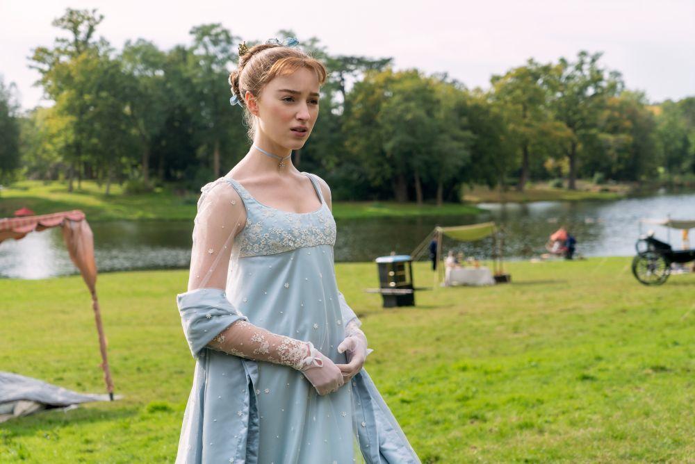 Sólo para la protagonista, Daphne Bridgerton, se confeccionaron más de 123 vestidos.
