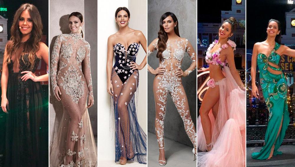 Cristina Pedroche con todos los diseños que ha lucido desde 2014.