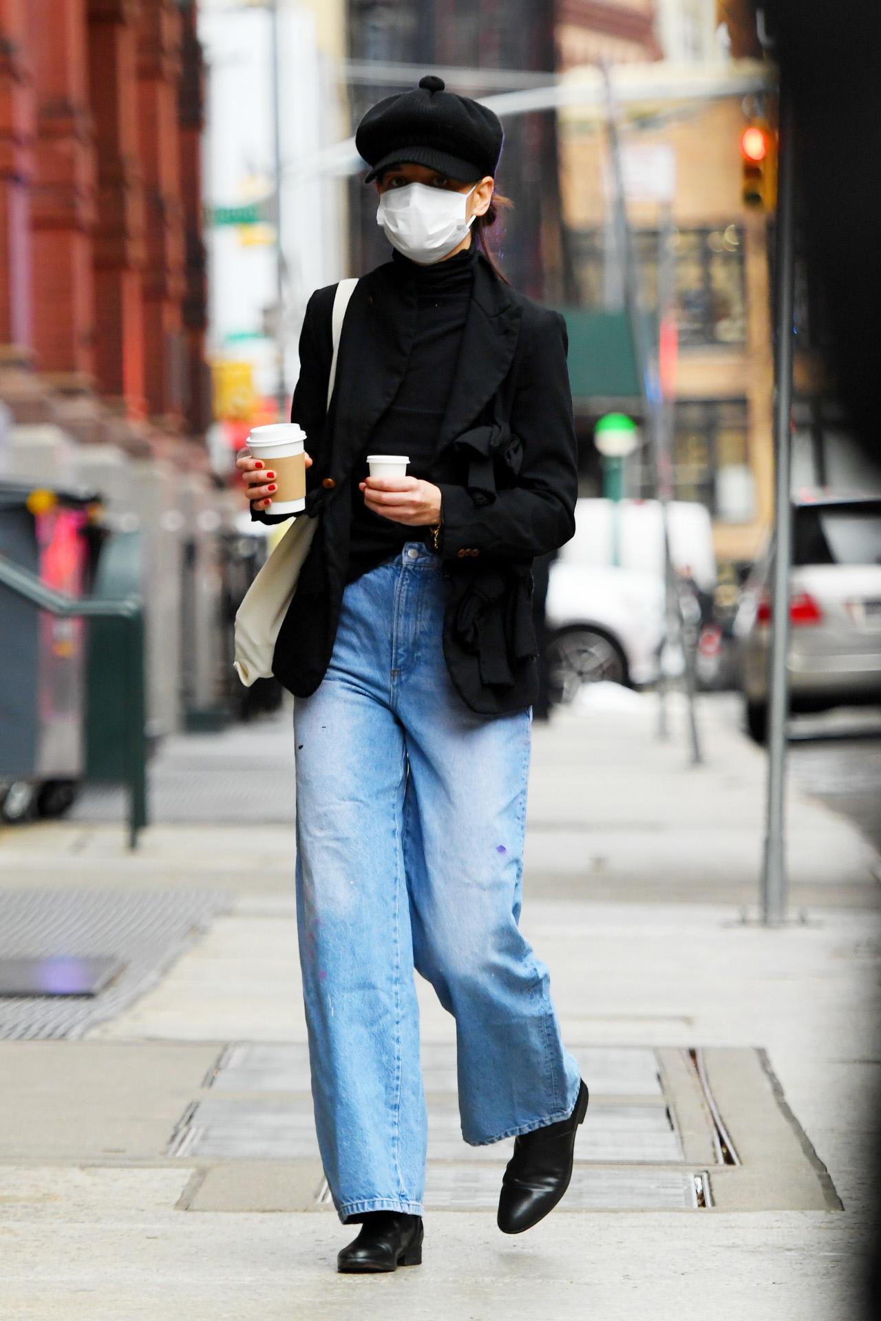 La actriz Katie Holmes en Nueva York.