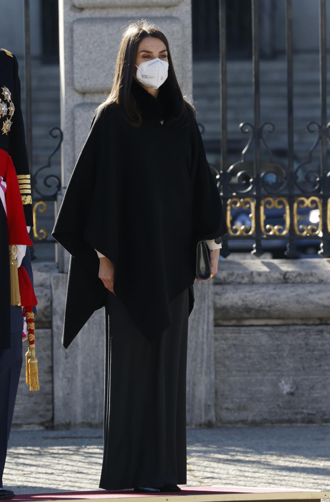 La reina Letizia durante la celebración de la Pascua Militar 2021.