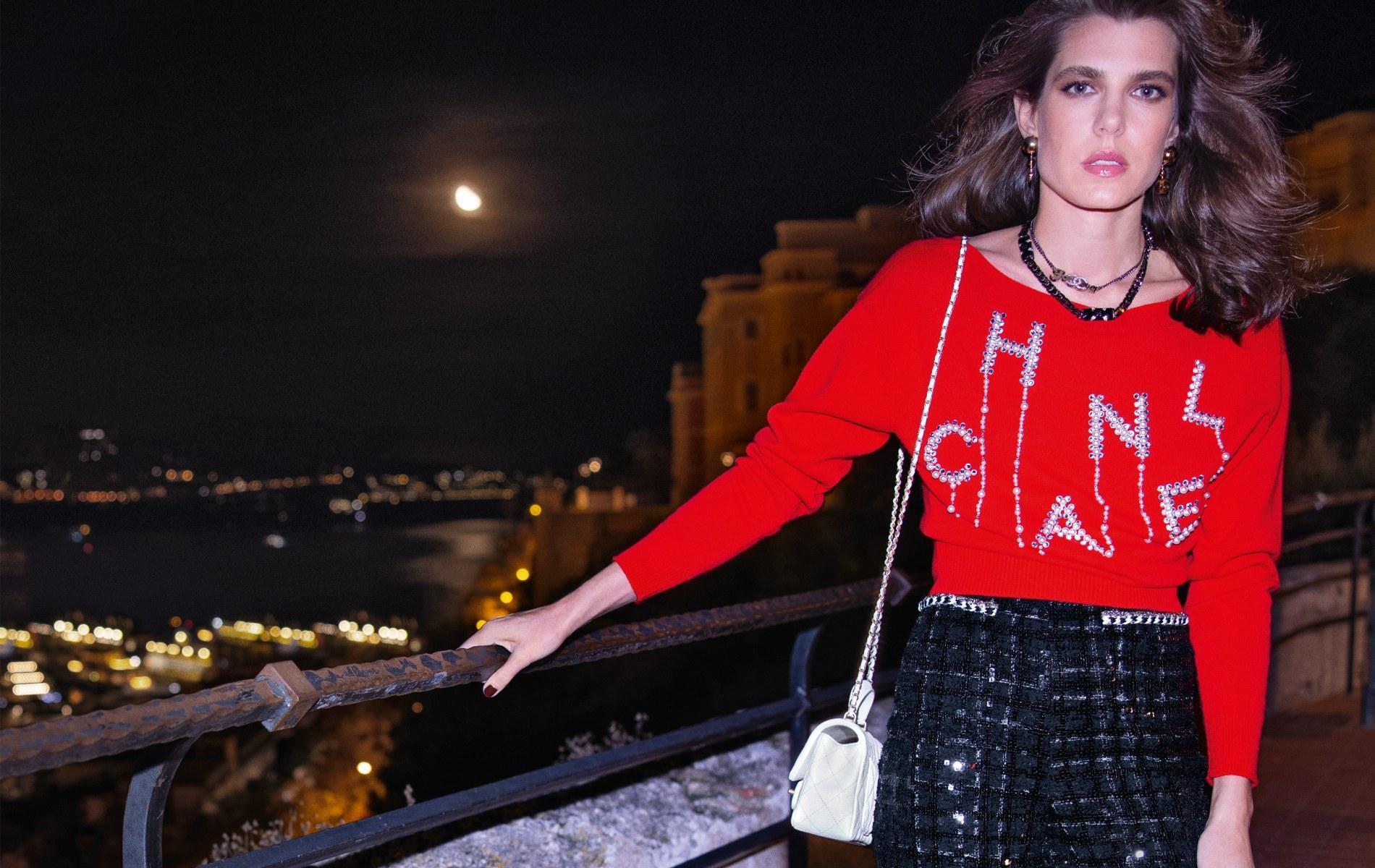 Carlota Casiraghi, embajadora de Chanel en la campaña de la colección primavera-verano 2021.