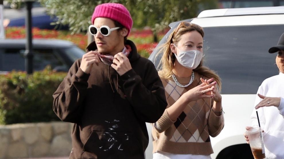 Harry Styles y Olivia Wilde paseando por las calles de Santa Barbara...