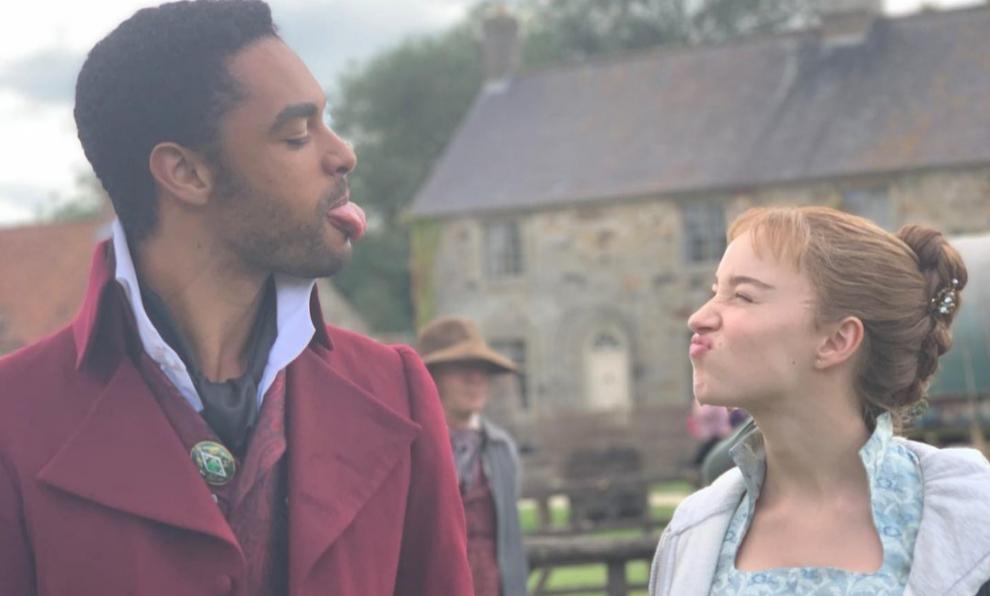 Los protagonistas de Los Bridgerton, el Duque de Hastings y Daphne...