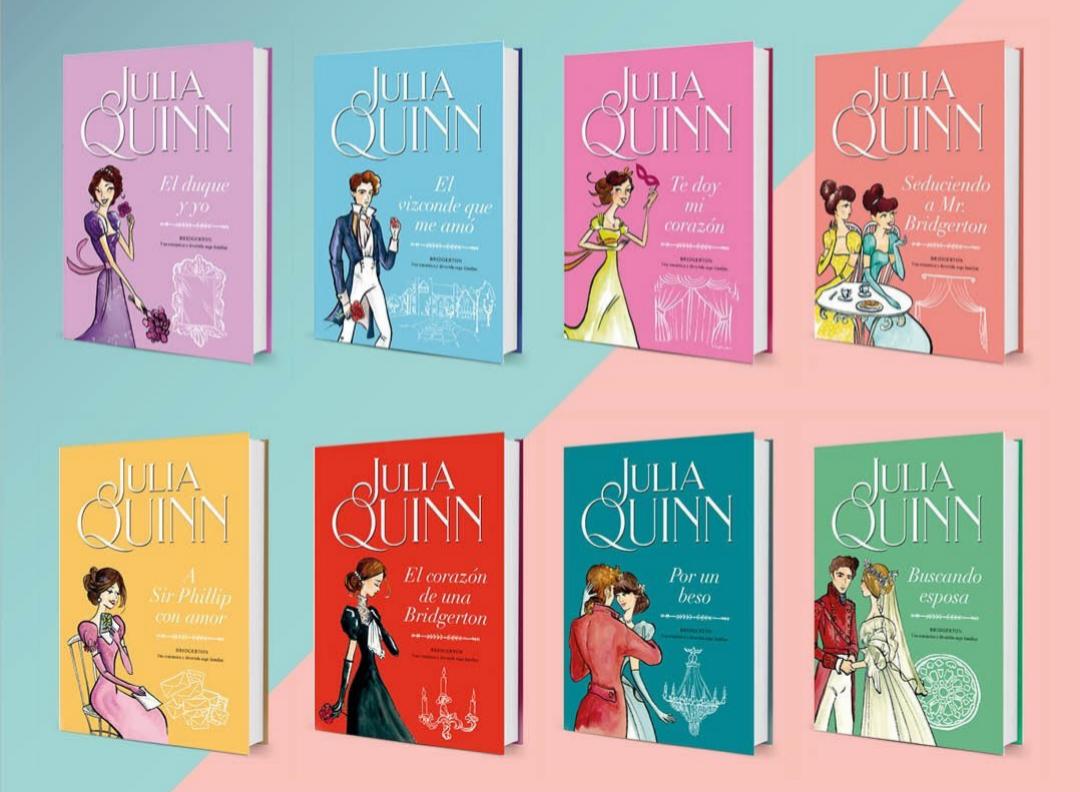 Los ocho libros de Julia Quinn cuentan la vida de los personajes principales de Los Bridgerton.