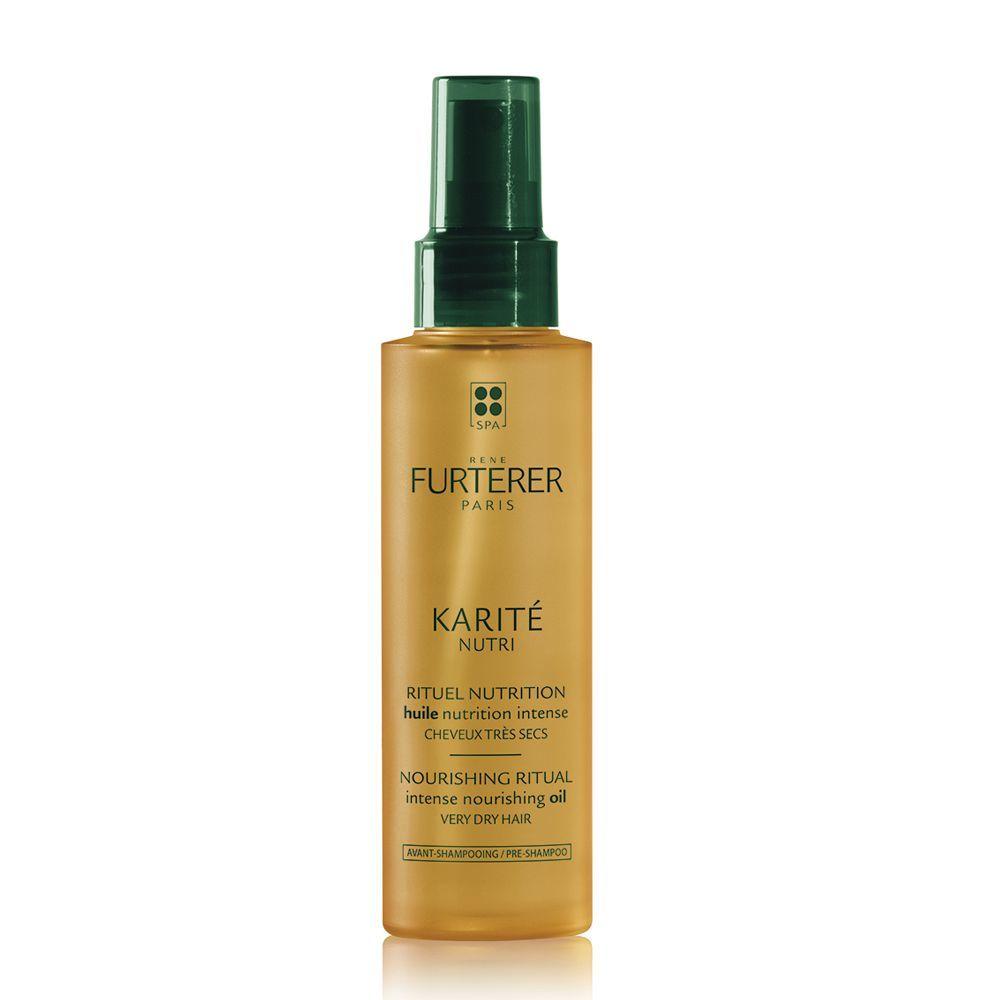 Aceite de belleza nutrición intensa con karité de René Furterer (17,55 euros) para nutrir y regenerar el pelo seco o muy seco.