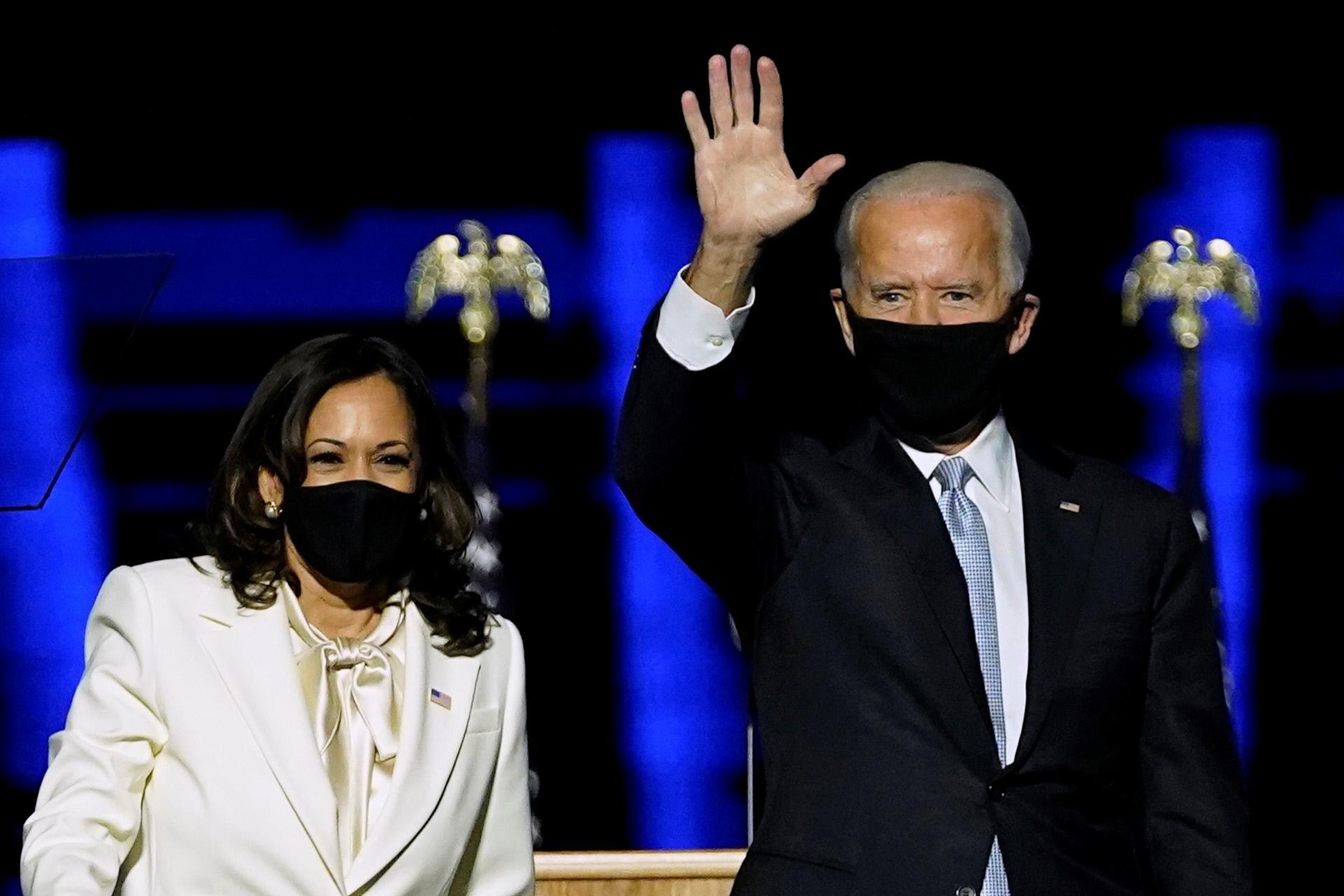 Joe Biden, 46 presidente de los Estados Unidos, junto a Kamala Harris,...