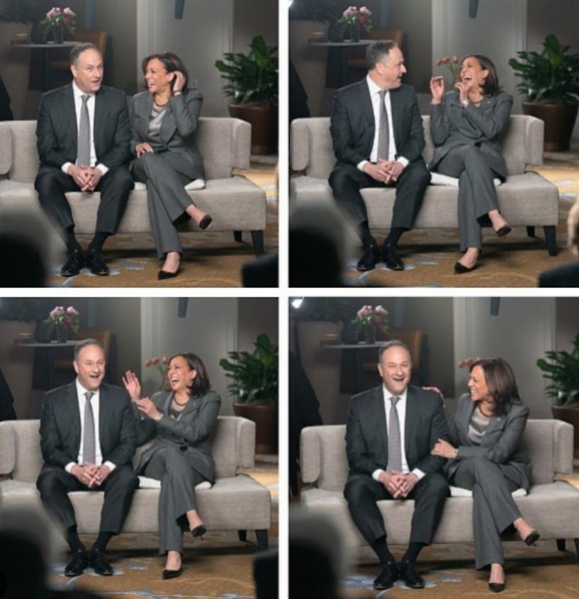 Kamla Harris y Doug Emhoff.