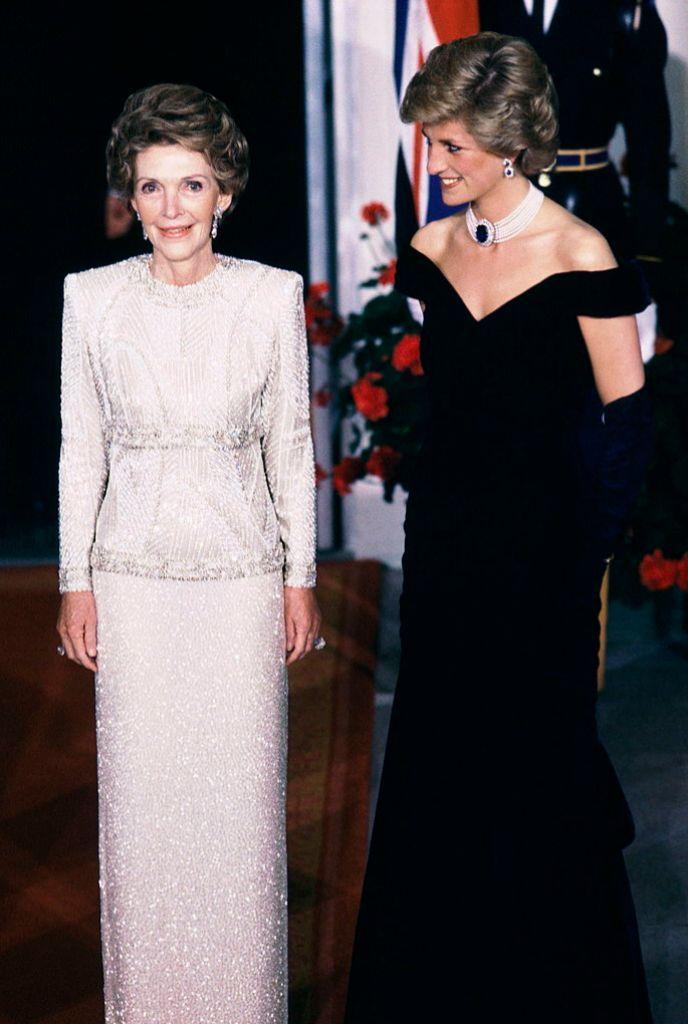 Nancy Reagan con la princesa Diana.