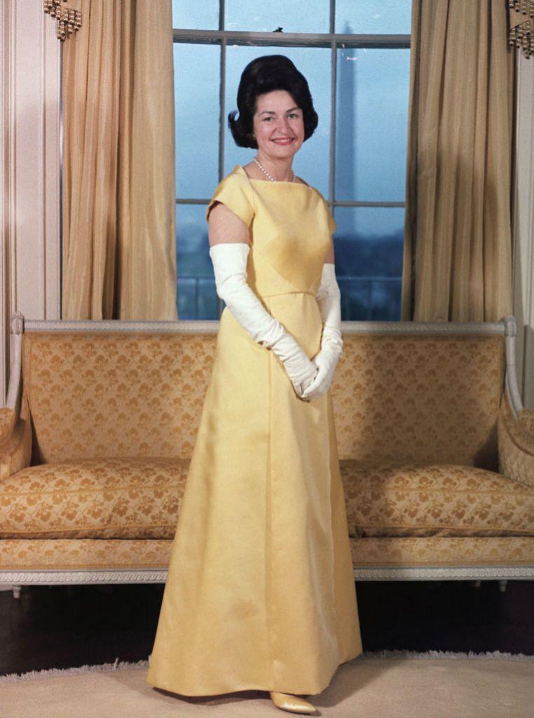 Retrato de Lady Bird en la Casa Blanca.