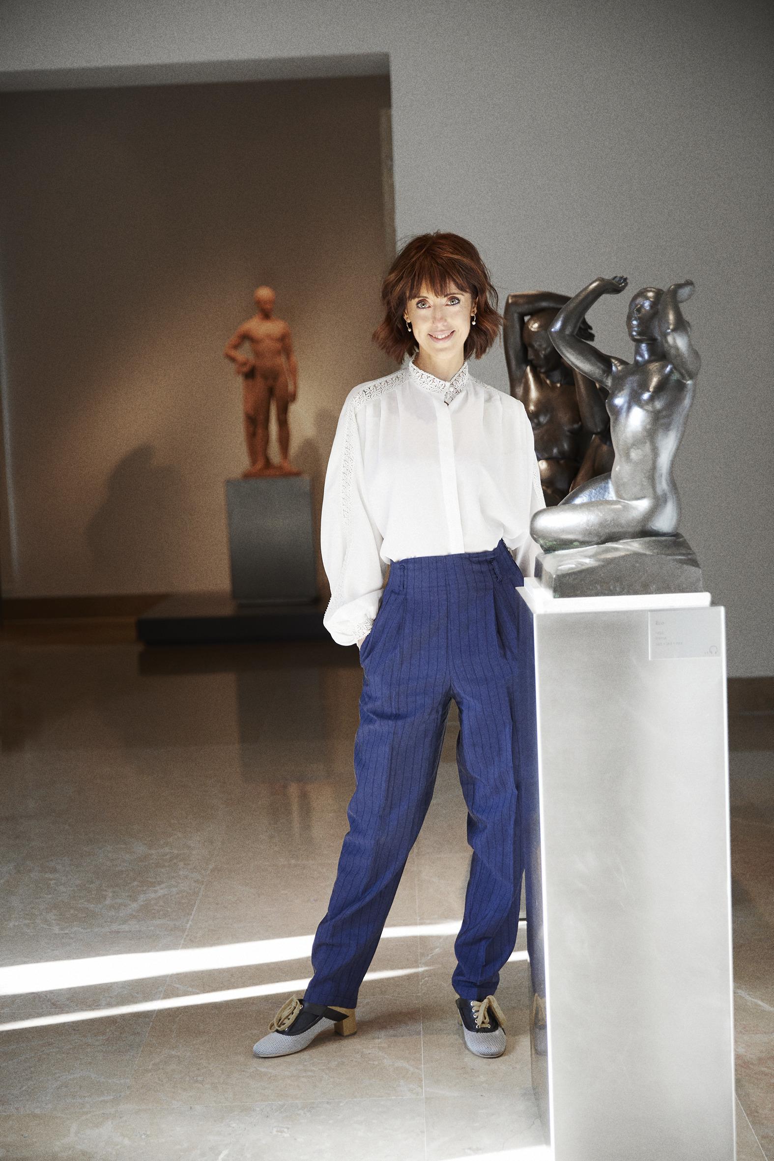 Irene Vallejo en el Museo Pablo Gargallo de Zaragoza