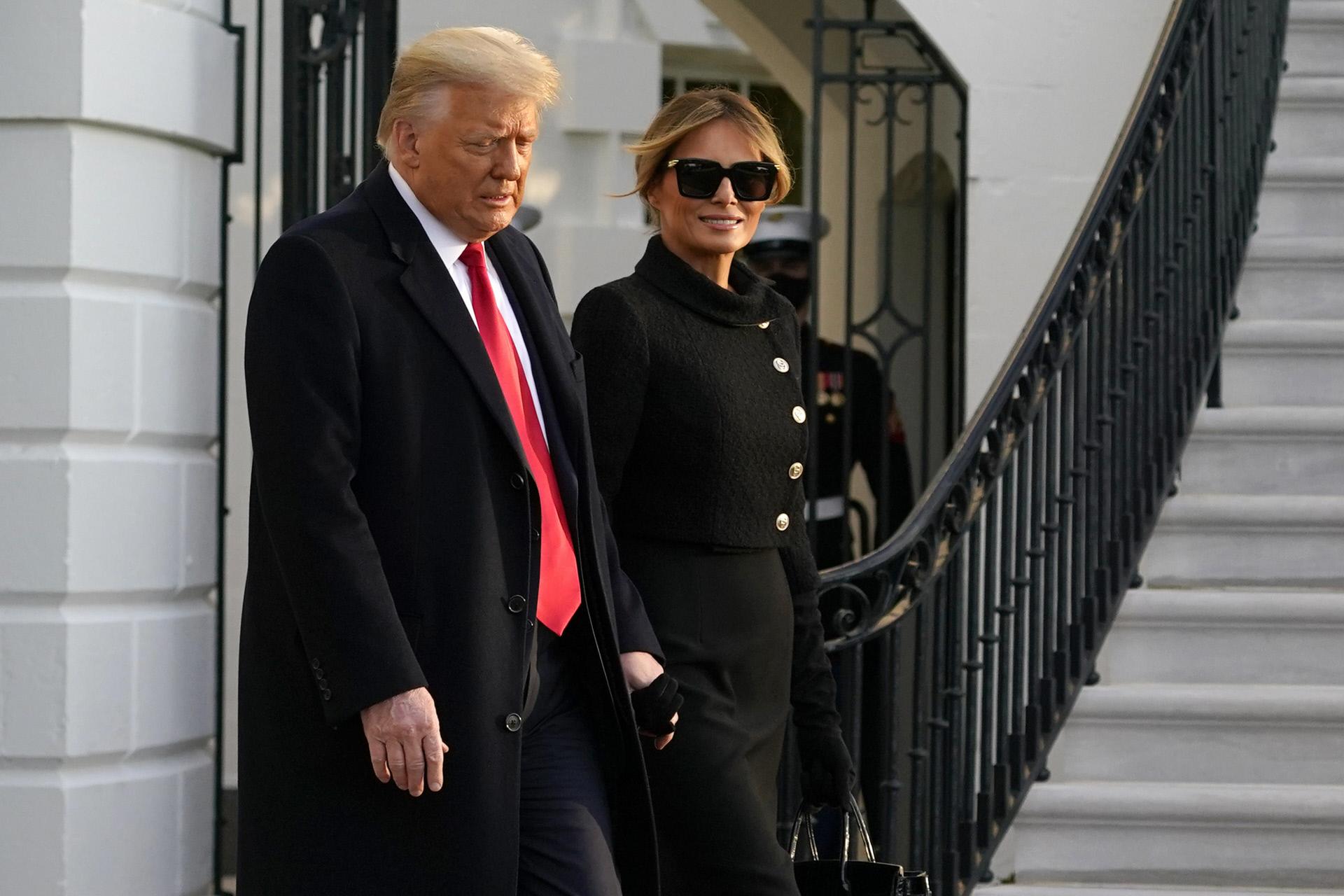 El matrimonio Trump.