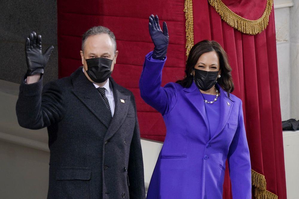 Kamala Harris junto a su marido.