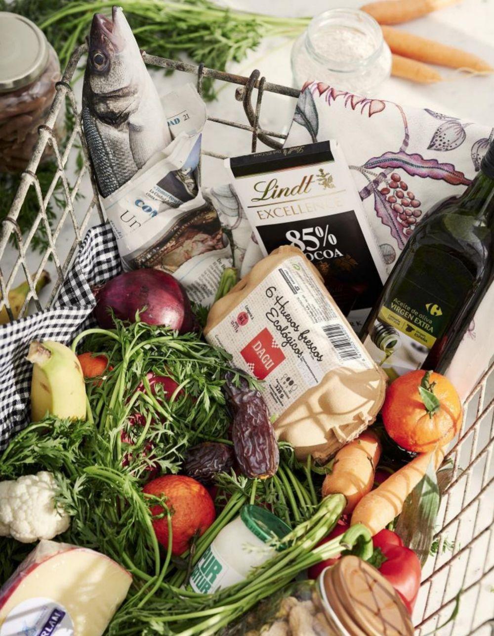 Elige con cuidado los alimentos de tu lista de la compra.