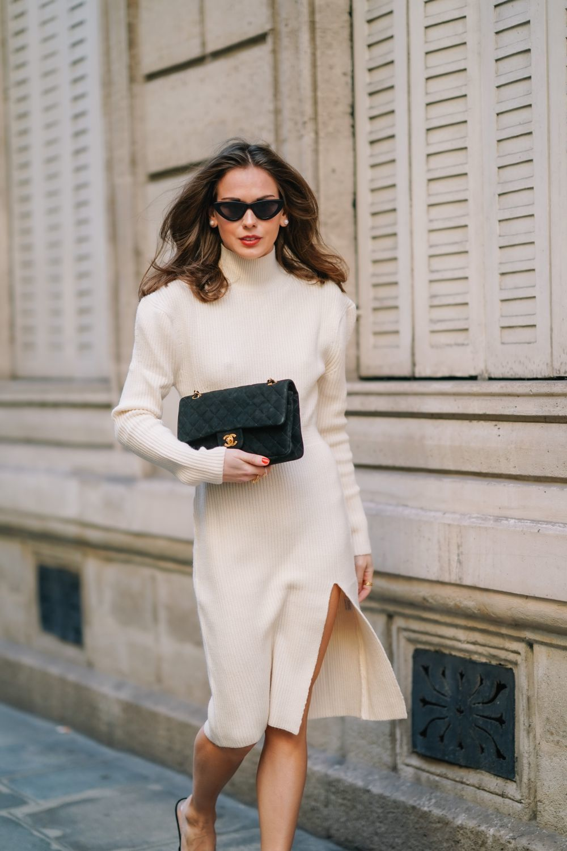 El vestido de cuello cisne, la opción más elegante.