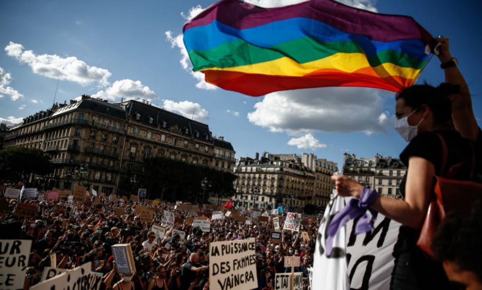 Una de las manifestaciones del #MeToo en París, en julio de 2020.