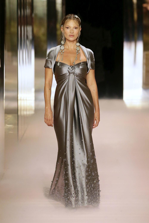 Kate Moss en el desfile de Fendi.
