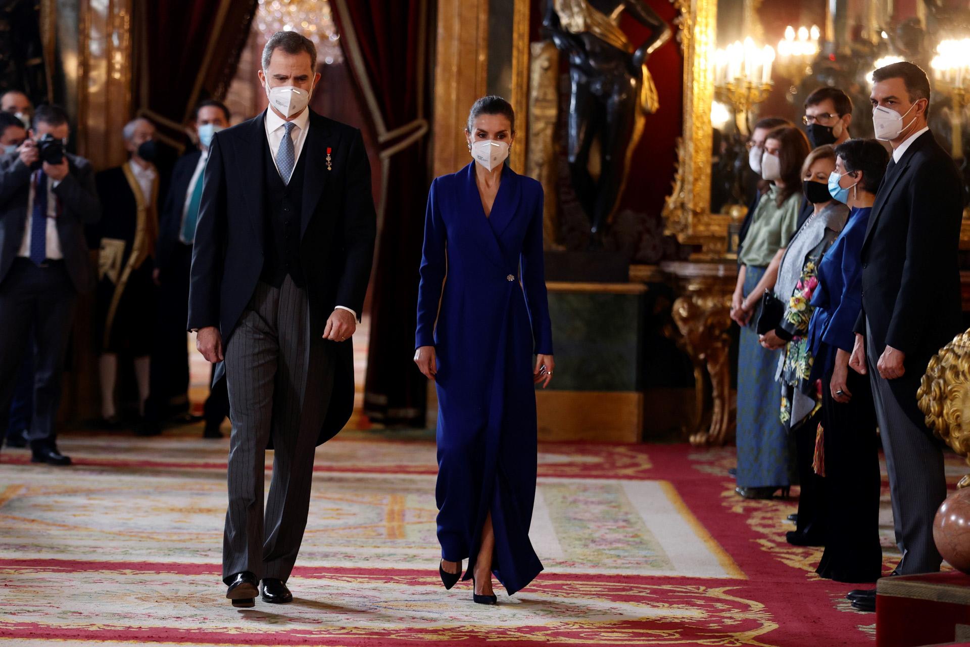 Los Reyes en la recepción de honor al cuerpo diplomático