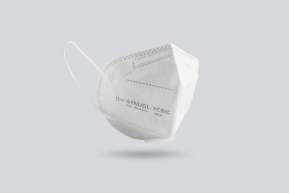 Mascarilla Proveil, creada por Bioinicia y el CSIC.