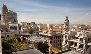 Vista de la azotea del hotel Iberostar Las Letras de Madrid