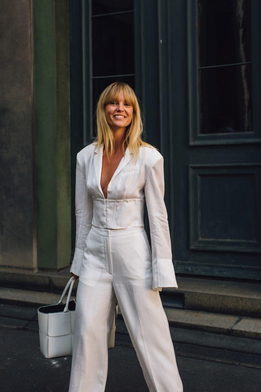 La melena con flequillo de la danesa Jeanette Madsen se ha convertido en una de las más buscadas.