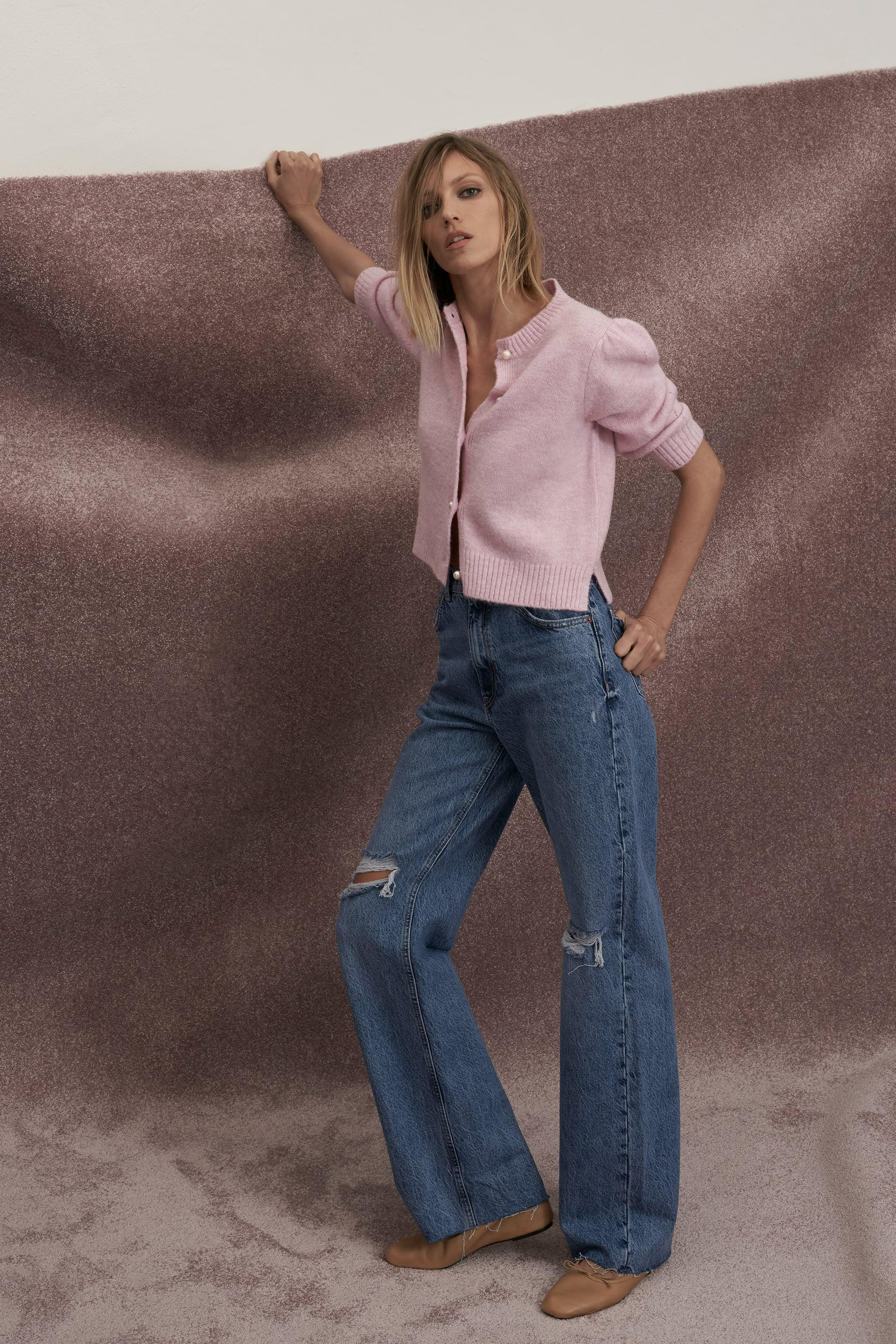 Jeans wide leg de Zara (29,95 euros).