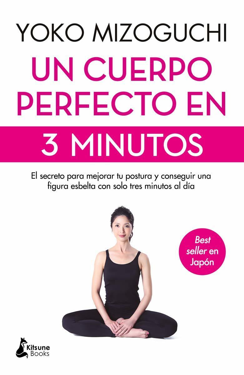 """Portada del libro """"Un cuerpo perfecto en 3 minutos"""" (Kitsune Books)."""