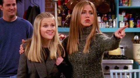 Jennifer y Reese en Friends.