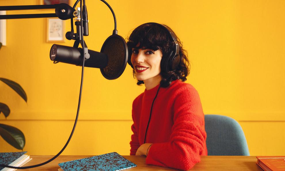 Coco Dávez en su estudio