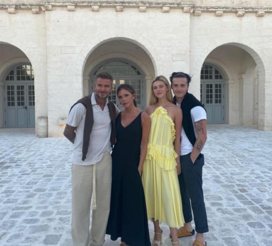 David y Victoria con Nicola y Brroklyn.