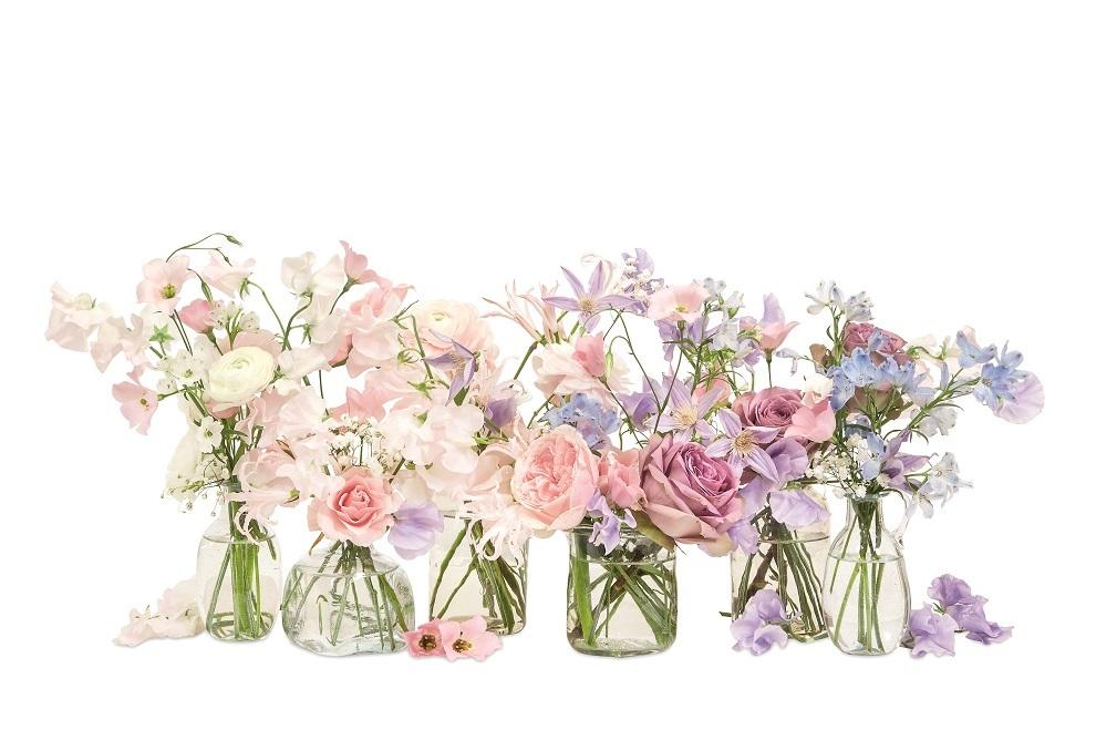 Arreglo floral del libro Flores: La teoría del color