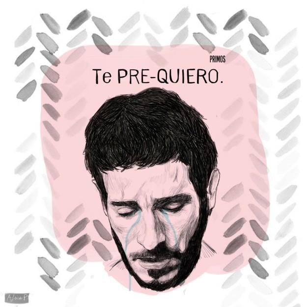 """Lámina de África Pitarch con una frase del actor Quim Gutiérrez en la película """"Primos""""."""