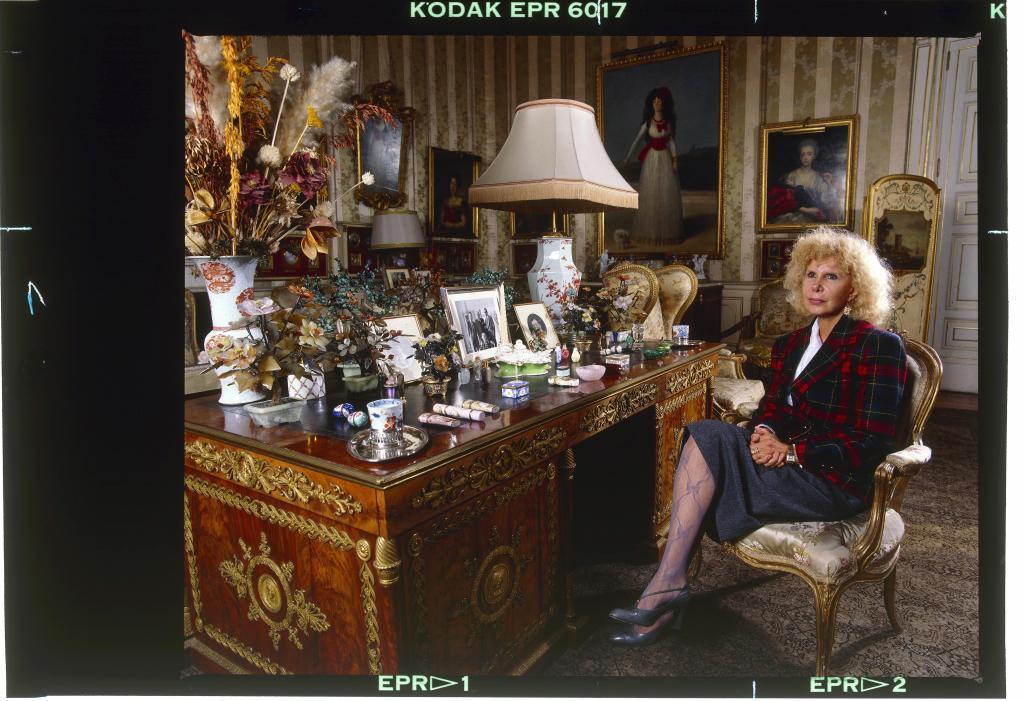 La duquesa de Alba en el Palacio de Liria.