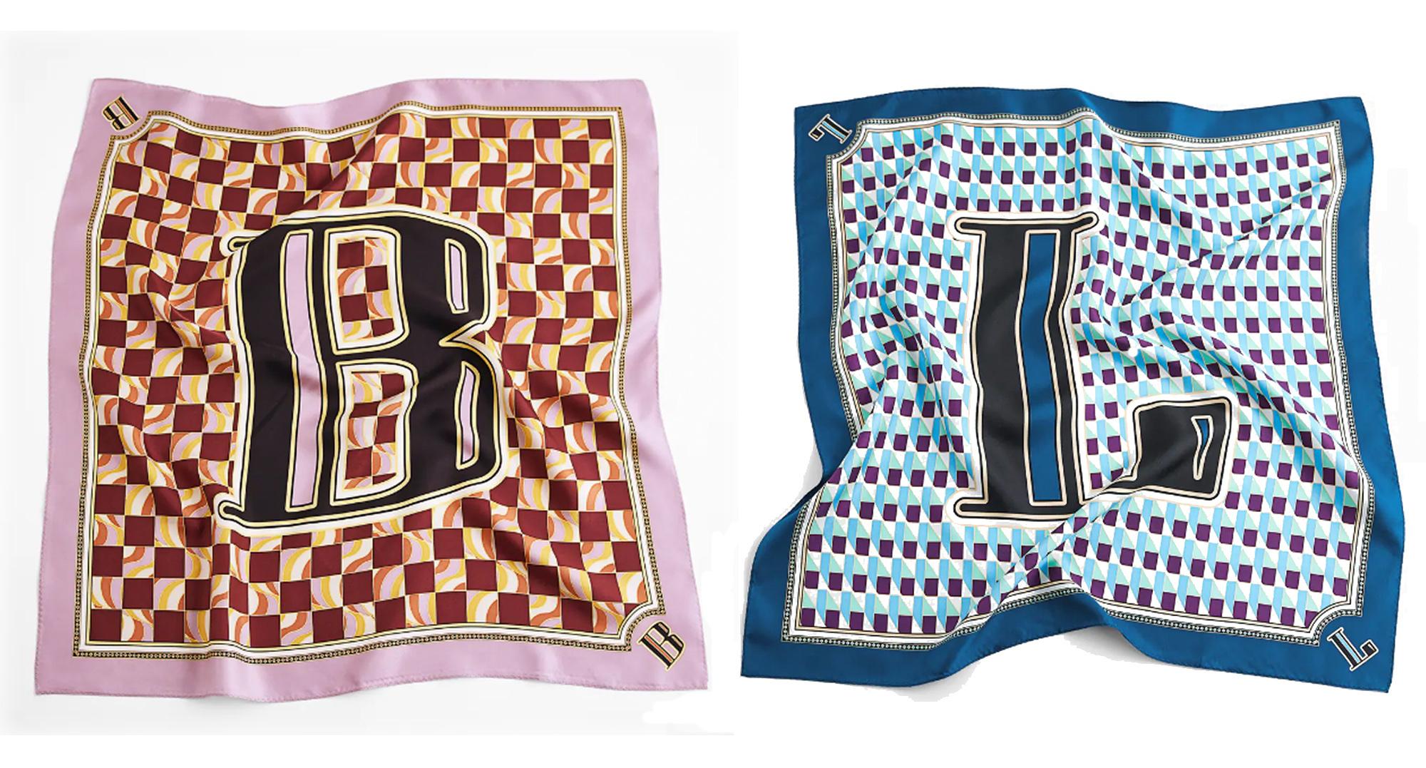 Pañuelos de Zara con inicial.