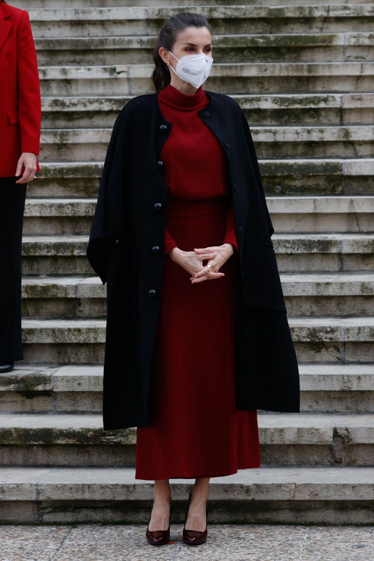 Doña Letizia con vestido de Massimo Dutti.