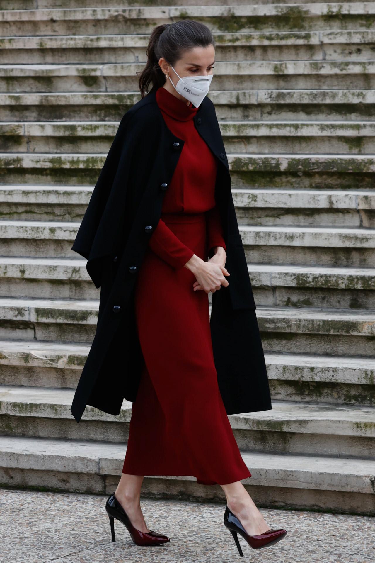 El look de la reina Letizia.
