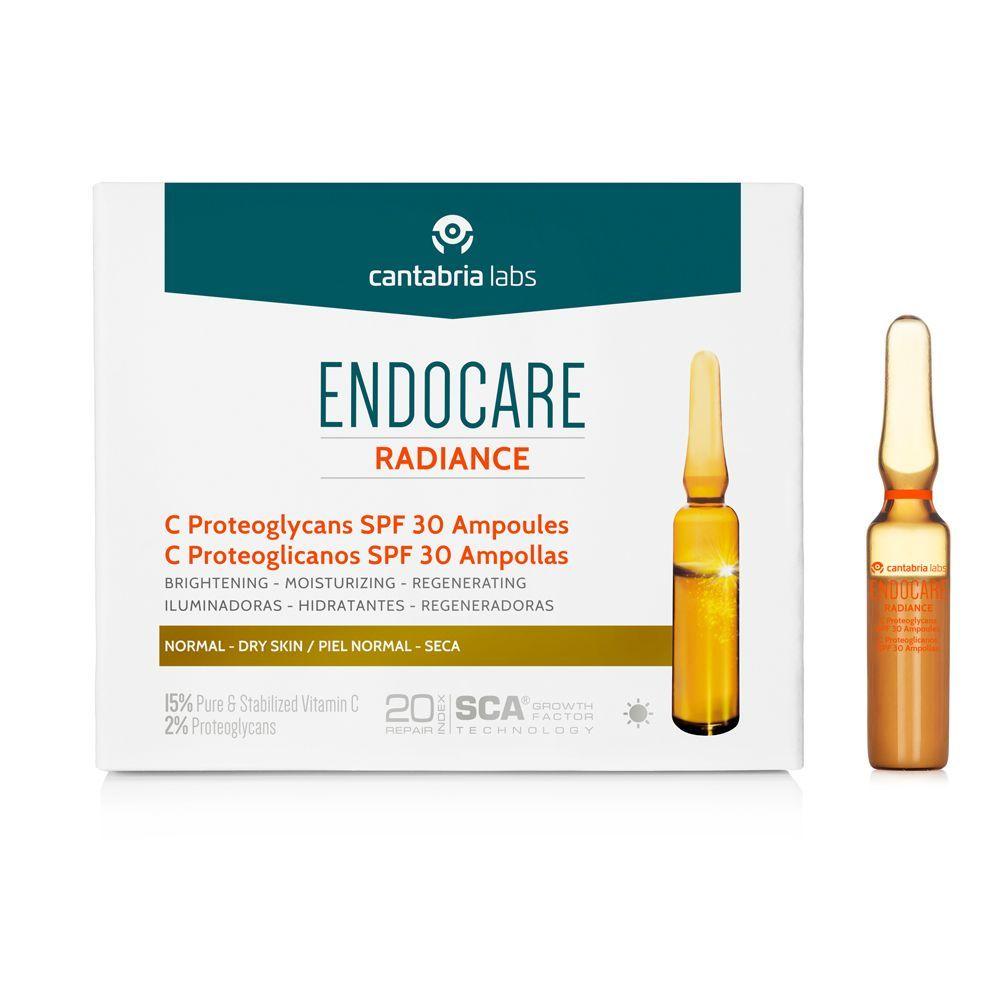 Ampollas Endocare Radiance C Proteoglicanos de Cantabria Labs.