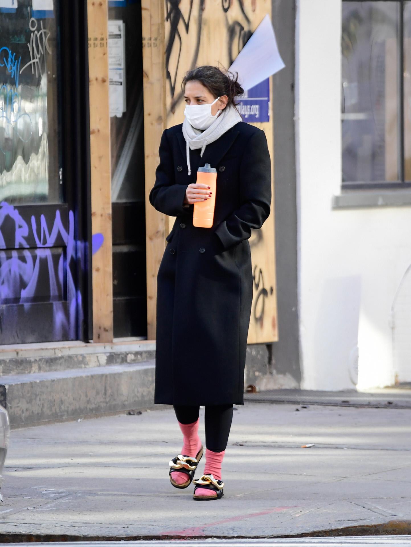 Katie Holmes en Nueva York.
