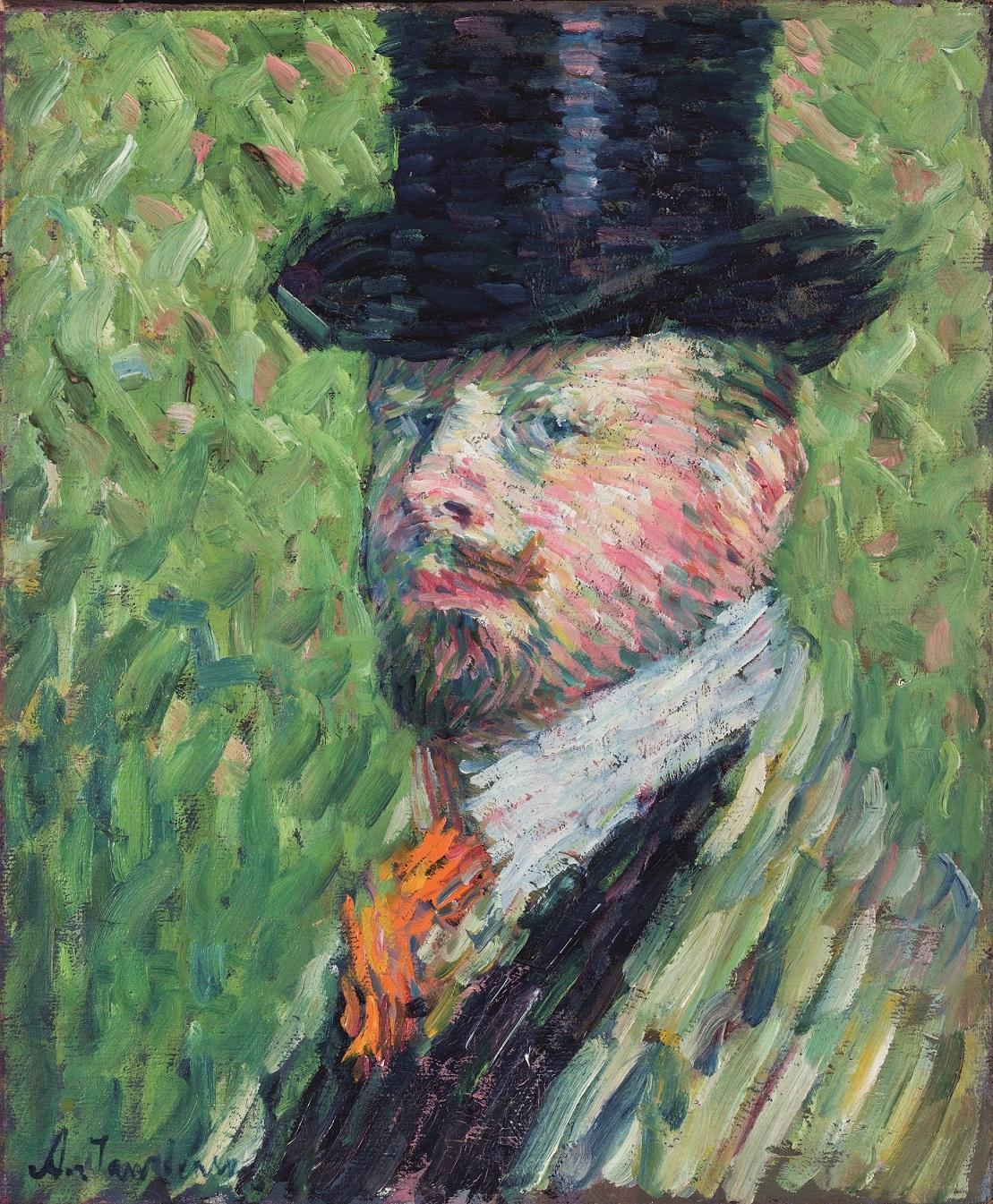 Self-portrait in top hat, Alexej von Jawlensky