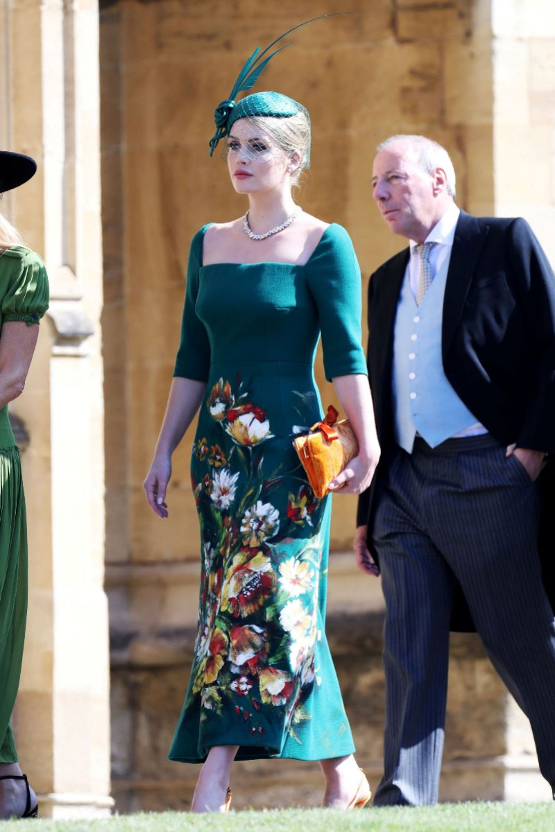 Lady Kitty Spencer en la boda del príncipe Harry y Meghan Markle